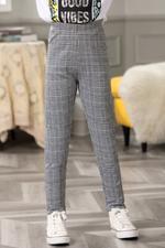 Nexgen Girls Girl Check Pant,Grey/Black,GEGSS2020256