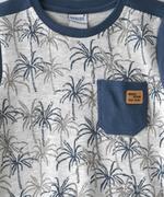 Genius Boys T-shirt With Long Pant Set , Light Grey Melange/Airforce Blue - SNGSS2137103