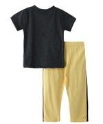 Genius Boys T-shirt With Long Pant Set , Anthra Melange/Yellow - SNGSS2137047