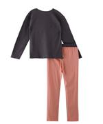 Genius Girls T-Shirt With Full Pant Set,Deep Grey/Peach-SNGSS2137468