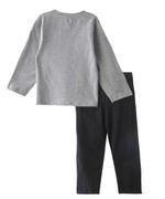 Genius Boys T-Shirt With Long Pant Set,Grey Melange/Black-SNGSS2137253