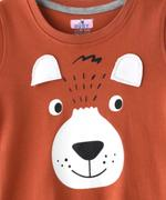 Smart Baby Boys T-shirt With Full Pant Sets ,Brown/Grey Melange-SNGSS2137685