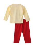 Smart Baby Baby Boys T-shirt With Full Pant Set , Yellow/Red - SNGAW2036631