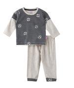 Smart Baby Baby Boys T-shirt With Full Pant Set , Grey Melange - SNGAW2034997