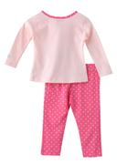 Smart Baby Baby Girls T-shirt With Full Pant Set , Pink - SNGAW2035238