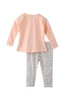 Smart Baby Baby Girls T-shirt With Full Pant Set , Peach/White - SNGAW2035230