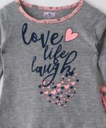 Smart Baby Baby Girls T-shirt With Full Pant Set , Grey/Peach - SNGAW2035329