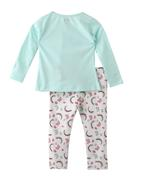 Smart Baby Baby Girls T-shirt With Full Pant Set , Mint/Off White - SNGAW2035302