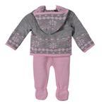 Smart Baby Baby Girls 2 Pc Set, Grey/ Pink-TIG18837A