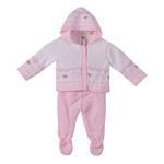 Smart Baby Baby Girls 2 Pc Set, White/ Pink-TIG18837B