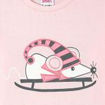 Genius Girls Full Sleeves T-Shirt With Full Pant Set , Pink - HDGLSS212201
