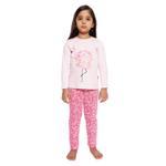 Genius Girls Full Sleeves T-Shirt With Full Pant Set , Pink - HDGLSS212210