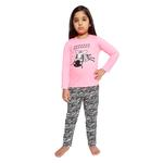 Genius Girls Full Sleeves T-Shirt With Full Pant Set , Dark Pink/Black - HDGLSS212207