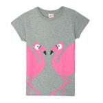 Genius Girls T-Shirt With Full Pant Set , Dark Pink/Grey - HDGLSS212211