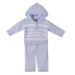 Smart Baby Baby Boys 2 Pc Set, Blue/White-TIG18821A