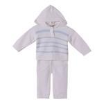 Smart Baby Baby Boys 2 Pc Set, White/Blue-TIG18821B