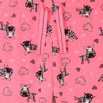 Genius Girls T-Shirt With Full Pant Set , White/Pink - HDGLSS212208