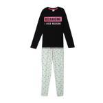 Genius Girls Full Sleeeve T-Shirt With Full Pant Set , Black/Grey - HDGLSS212233