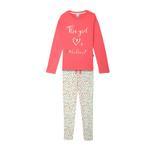 Genius Girls Full Sleeves T-Shirt With Full Pant Set , Dark Pink/Multi - HDGLSS212243