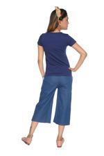 Genius Girls T-shirt With Culotte Pants Set , Navy/Denim Blue - MCGSS218930