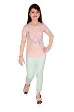Genius Girls T-shirt With Pant Set , Light Pink/Mint - MCGSS218290
