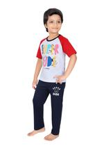 Genius Boys T-shirt With Full Pant Sets , White/Navy - SIMGS21251007