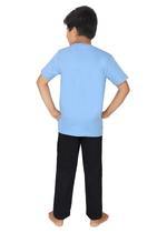 Genius Boys T-shirt With Full Pant Sets , Airforce Blue/Black - SIMGS21251020