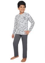 Genius Boys T-shirt With Full Pant Sets , Ecru Melange/Dark Grey - SIMGS21241074