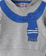 Smart Baby Baby Boy Hoodie With Full Pant Set , Grey/Royal - MCGAW29353