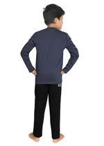 Genius Boys T-shirt With Full Pant Sets , Dark Grey/Black - SIMGS21241076