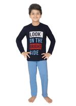 Genius Boys T-shirt With Full Pant Sets , Navy/Light Blue - SIMGS21241069