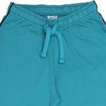 Genius Boys T-shirt With Full Pant Set , Black Melange/Sea Green - HDGLSS21B2306