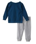 Genius Boys Top With Full Pant Set , Duttch Blue/Grey - MCGAW209459