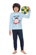 Genius Boys T-shirt With Full Pant Set , Sky Blue/Black - HDGLSS21B2303