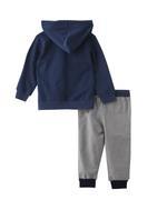 Genius Boys Hoodie With Full Pant Set , Navy/Grey - MCGAW209445