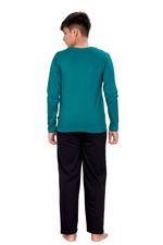 Genius Boys T-shirt With Full Pant Set , Green/Black - HDGLSS21B2333