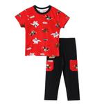 Genius Boys T-shirt With Full Pant Set , Red/Black - SNGS2034655