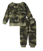 Genius Boys Top With Full Pant Set , Camouflage Green - MCGAW209454