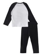 Genius Boys T-shirt With Long Pant Set, White /Black -SNGSS2137289