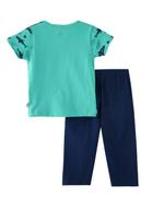 Smart Baby Baby Boys T-Shirt With Full Pant Set,Green/Navy-SNGSS2137736
