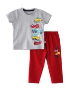 Smart Baby Baby Boys T-Shirt With Full Pant Set,Dark Millanch/Red-SNGSS2137825