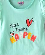 Smart Baby Baby Girls T-Shirt With Full Pant Set,Sea Green/OFF White - SNGSS2137546