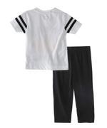 Genius Boys T-shirt With Full Pant Sets , White/Black - SIMGS21251008