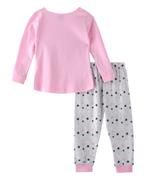 Genius Girls T-shirt With Pant Set , Pink/Light Grey - SNGSS2137347