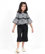 Flower Girl Girls Top With Pant Set , Black - SIMGNK19C62