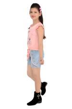 Flower Girl Girls Playsuit ,Pink/Denim-MCG373G19