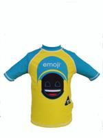 Emoji Boy's Swimwear Rash Guard Yellow,HWGLSWE319