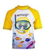 Emoji Boy's Swimwear Rash Guard White/Yellow -HWGLEMJSW1