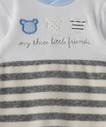 Smart Baby Baby Boy Romper , Grey/White - TIGAW20TGR007