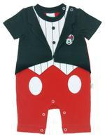 Disney Mickey Mouse Baby Boys Romper , Black/Red-NCGDBIFS198